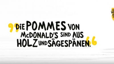 "McDonald's präsentiert die ""Wahrheit"" über den Pommeswald"